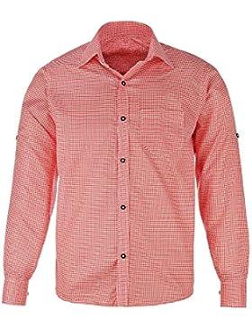 Herren-Trachtenhemd, rot oder bl