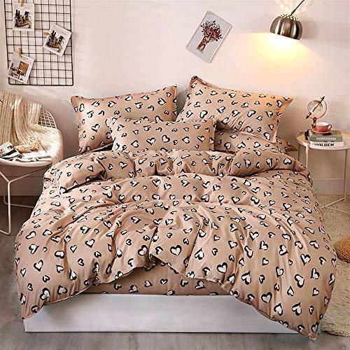 Rosa Und Brown Twin Bettwäsche (UOUL Bettwäscheset Baumwolle 4-teilig Atmungsaktiv Leopardenmuster Pflegeleicht Geeignet Für Teenager Erwachsene Schlafzimmer Graue Königin,Brown,Twin)