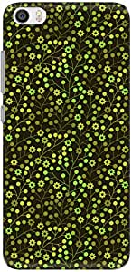 The Racoon Lean printed designer hard back mobile phone case cover for Xiaomi Mi 5. (leafy flor)