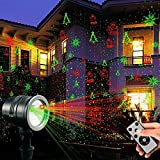 LED Projektionslampe von Colleer, 16 Lichteffekt mit Schutzart IP65 für Innen und Außen mit Fernsteuerung, Beleuchtung als Gartenleuchte Projektor, Mauer Dekoration, Party Licht, Weihnachten und Disco