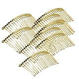 Sharplace 18 Zähne Metall Einsteckkamm Haarkamm Haarkamme Silber Farbe 6,8 X 3,7 cm 10pcs Golden