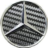 Carbon Lenkrad Emblem Folie Ecken -Finest Folia (Carbon Schwarz)