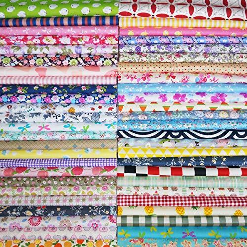 50 pz tessuti stampato cotone tessuti stoffe per patchwork scampoli tessuti e stoffe a metro cotone stoffa fatansia per cucito creativo (30cmx30cm)