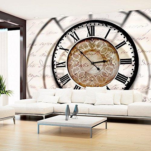 murando Papier peint intissé 350x256 cm Décoration Murale XXL Poster Tableaux Muraux Tapisserie Photo Trompe l'oeil temps Horloge horloge 10110905-100