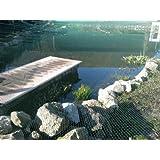Aquagart Filet d'étang 8x 6m, filet robuste anti-feuilles et anti-oiseaux