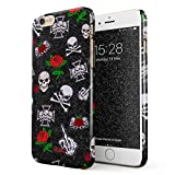 Glitbit Coque pour iPhone 6 Plus / 6s Plus Case Embroidered Red Rose Skulls Floral...