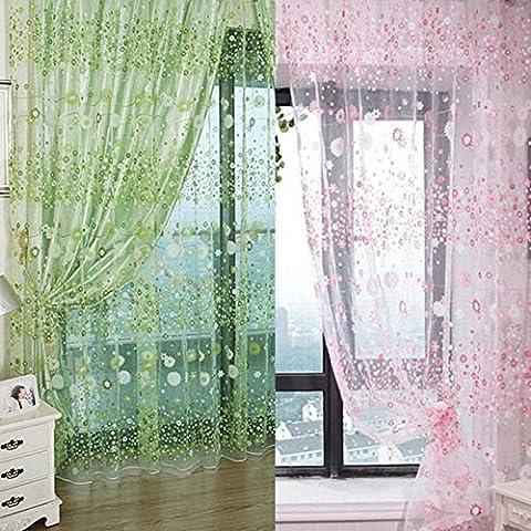 Oxforder klein Blume Tüll Voile Tür Fenster Vorhang Rosa Tuch Panel Sheer Schal Volants für für Schlafzimmer Wohnzimmer Badezimmer Kinderzimmer