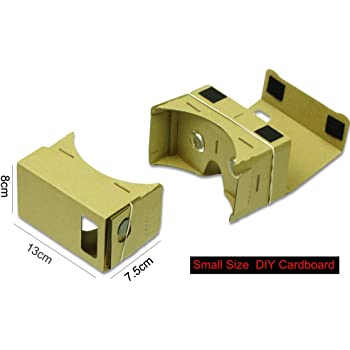 OBiDi - Small Size Unassembled DIY Cardboard Virtual Reality 3D Glasses without NFC VR for Smartphones < 5inch