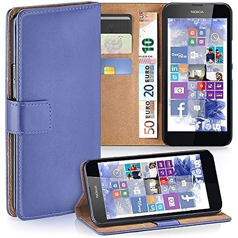 Bolso OneFlow para funda Nokia Lumia 630 / 635 Cubierta con tarjetero | Estuche Flip Case Funda móvil plegable | Bolso móvil funda protectora accesorios móvil protección paragolpes en