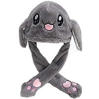 dressfan Giocattolo del cappello dell'orecchio di coniglio della peluche delle ragazze delle ragazze divertenti Regalo…