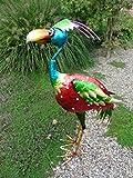 Dekovogel EXOTIC aus Metall, 66 cm hoch, aufwendig verarbeitet Paradiesvogel Dekoration Gartenfigur Metallfigur