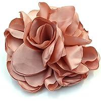 Rougecaramel – Fermaglio per capelli a forma di fiore, in tessuto, 7,5 cm, colore: rosa