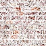 decomonkey Fototapete | Tapetenrolle 10 m | Vliestapete Deko Panel Modern Design Wanddeko Wandtapete | Steinwand Stein Ziegel