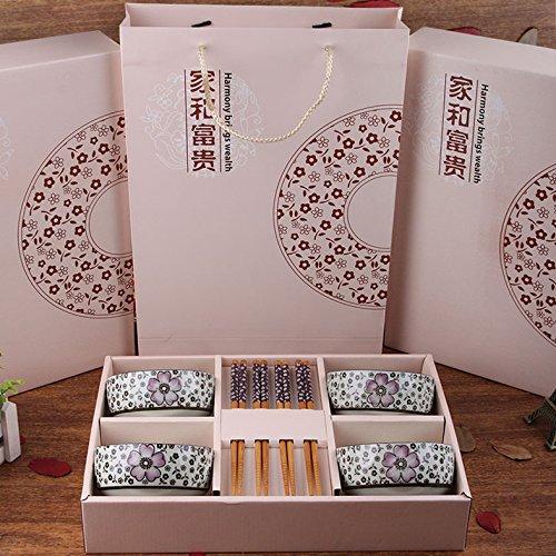MEICHEN Ristorante cucina articoli per la casa ceramica tavola regalo stoviglie set set di 8 , purple