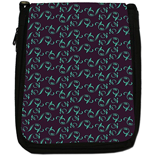 Fancy A Snuggle, Borsa a spalla donna Green Leaves In Repeat Pattern