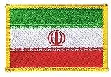 Flaggen Aufnäher Iran Fahne Patch + gratis Aufkleber, Flaggenfritze®