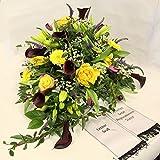 Blumenstrauß zur Beerdigung *Letzter Gruß* dieses Grabgesteck ist mit schwarzen hochwertigen Callas gearbeitet- eine trauer Blume mit sehr edlem Charakter, Size 95 Euro*