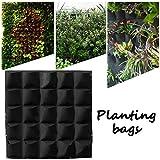 king do way Sac à Plante, Sac de Plantation Mural pour Légumes Fraise Fleurs Pépinière Jardinière Intérieur Extérieur Décor Maison Jardin (avec 36 Poches)
