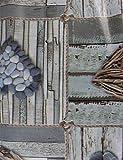 normani Wachstuch Tischdecke für Draußen und Drinnen - Wetterfest abwaschbar Pflegeleicht -in Verschiedenen Mustern im Landhaus Stil Farbe Stone Größe 200 cm x 140 cm