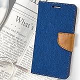Vinjhraat covers For Samsung Galaxy J5 2016 Flip Vinjhraat cover Dairy Wallet Case (Canvas Series) (Blue)