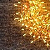 GreenClick 200 LEDs Kupferdraht Lichterkette Warmweiß Wasserdicht IPX7 Lichterkette außen/Innenbeleuchtung Fernbedienung Lichter LED Kupferdraht Lichterkette für Kinderzimmer Home Party Hochzeit