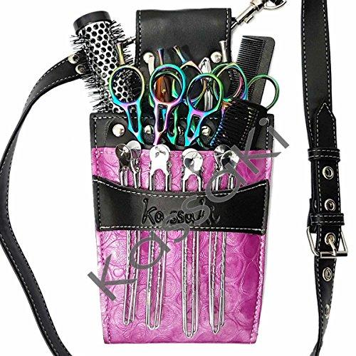 Kassaki Friseur Tasche Holster–Stylische Tasche in rosa Blume