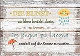 artissimo, Dekopanel, Deco Panel, ca. 30x20cm, PE5792-PA, Die Kunst zu Leben, Bild mit Spruch, Spruchbild, Wandbild, Wanddeko, Wanddekoration