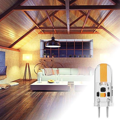 Sunix 4pcs 3W GY6.35 COB LED Glühbirnen, 25W Halogen Glühbirnen Äquivalent, 150-170LM, Dimmbare, Warmweiß, 3000K, 360 Grad Strahlungswinkel, Kristall Scheinwerfer Glühbirnen SU165 - 6
