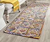#9: Multi , 2'3\ x 8' : Safavieh Nantucket Collection NAN440A Handmade Abstract Geometric Diamond Multicolored Cotton Runner Rug (2'3