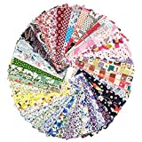 raylinedo® 15 x anderen Muster Patchwork 100% Baumwolle Popeline Stoff Bundle Squares von 20 * 25 cm Quilting Scrapbooking Artcraft Project Collection One, Random 15 Pattern, 20*25cm X 15pcs