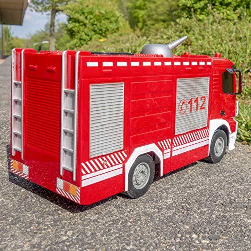 RC Feuerwehr kaufen Feuerwehr Bild 1: RAYLINE RC Feuerwehr Auto Car Ferngesteuerte Bus E572-003 Löschfahrzeug mit Wasserpumpe*
