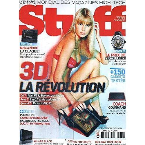 STUFF - N°92 - DECEMBRE 2009 / Nokia N900, plus rapide, fluide et intuitif / montres, le prix de l'excellence / +150 gadgets testés / 3D la révolution / Coach gourmand, QOOQ, le livre de cuisine tacti
