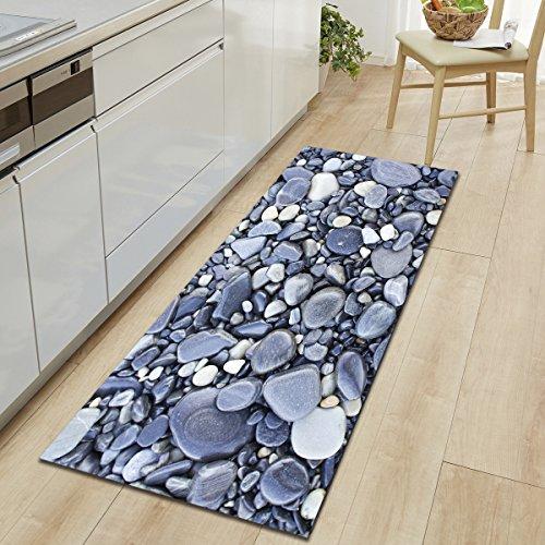 HYRL Carpets Extra Lange Badezimmer Läufer Teppiche Rutschfeste Stein Badematte Für Bad Absorbierende Küche Boden Teppich Maschine Waschbar,#5,60 * 180Cm (Bad-teppich Extra Lang)