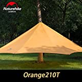 Im Freienzelt-Camping 3-4 Personen Große Familienzelte Wasserdicht Strand Schnell Built Camping Zelte Orange Grau NH15T003-M