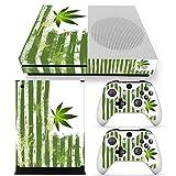 Xbox ONE S Designfolie für Konsole + 2 Controller + Kamera Sticker Skin Set – Weed Streifen