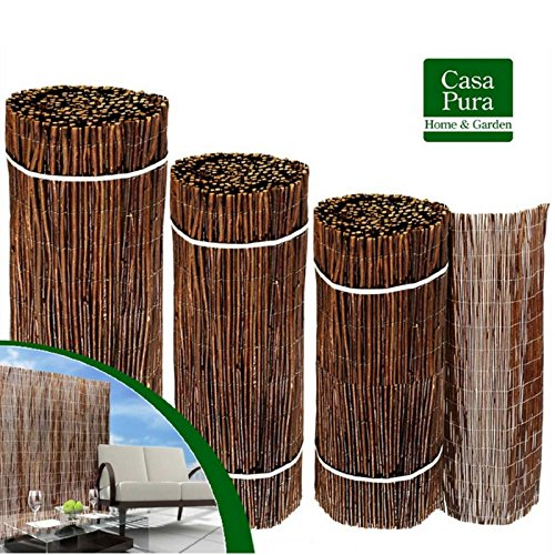 Frangivista in legno casa pura®   Per giardino, balcone, terrazzo   150x500 cm