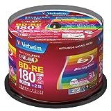 50VERBATIM BluRay wiederbeschreibbare BD-RE 25GB INKJET bedruckbare Blu-ray Rohlinge