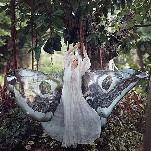 Motte Flügel Schmetterling Umhang Fee Mantel braun und weiß Kostüm Erwachsene Braut Fee - Nymphe Fee Kostüm