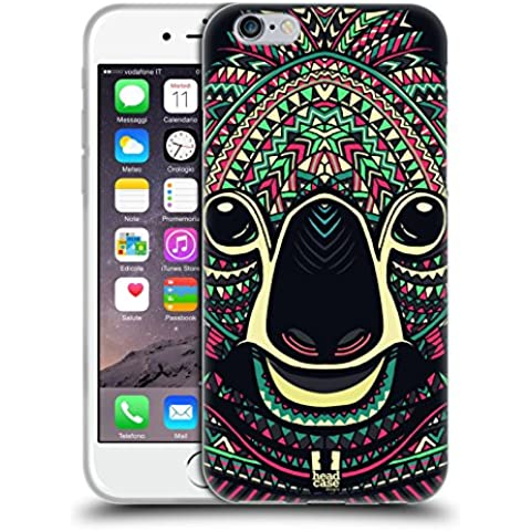 Head Case Designs Koala Volti Di Animali Aztechi Back Case Cover in Silicone per Apple iPhone 6 4.7