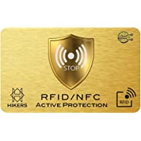 Carta di blocco RFID/NFC Protezione per carta di credito contactless, carte bancaria, pasaporto, carta bancomat (1 carte…