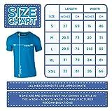 I Wish I Was A Little Bit Taller, Mann Gedruckt T-Shirt - Azurblau/Weiß 2XL = 119-124cm