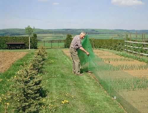 ARNDT Filet clôture de jardin avec 12 piquets 20 m x 80 cm Vert