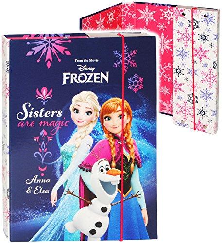 alles-meine.de GmbH Heftordner / Ordner / Heftbox - A4 -  Disney Frozen - die Eiskönigin  - für Hefte, Zettel und Mappen - Glanz Druck - Gummizugmappe & Heftmappe - Mappe & Box..