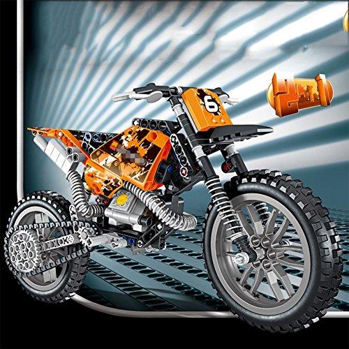 3D Puzzle-Bauwerke Offroad-Motorrad Bauen Kleine Partikel Montiert Bausteine Kinderspielzeug
