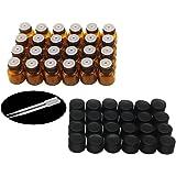 Yizhao Flacon Echantillon Huile Essentielle Vides 1ML, Fiole en Verre Amber avec [Réducteurs d'Orifice], pour Massage, Aromat