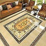 LANYU Boden Tapete Marmor Fliesen Mosaik Tapete Malerei Badezimmer Mural Selbstklebende PVC-Boden Tapete, 200 * 140 cm