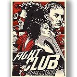 Box Prints Fight Club Film Vintage Retro-Stil Poster Kunstdruck Schwarz Weiß gerahmte Bild Klein groß