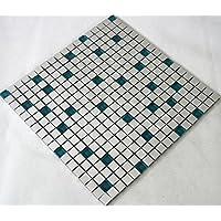 azulejos mosaico mosaico azulejos aluminio cristal plata brillante Cocina Baño Inodoro 8mm) # A03