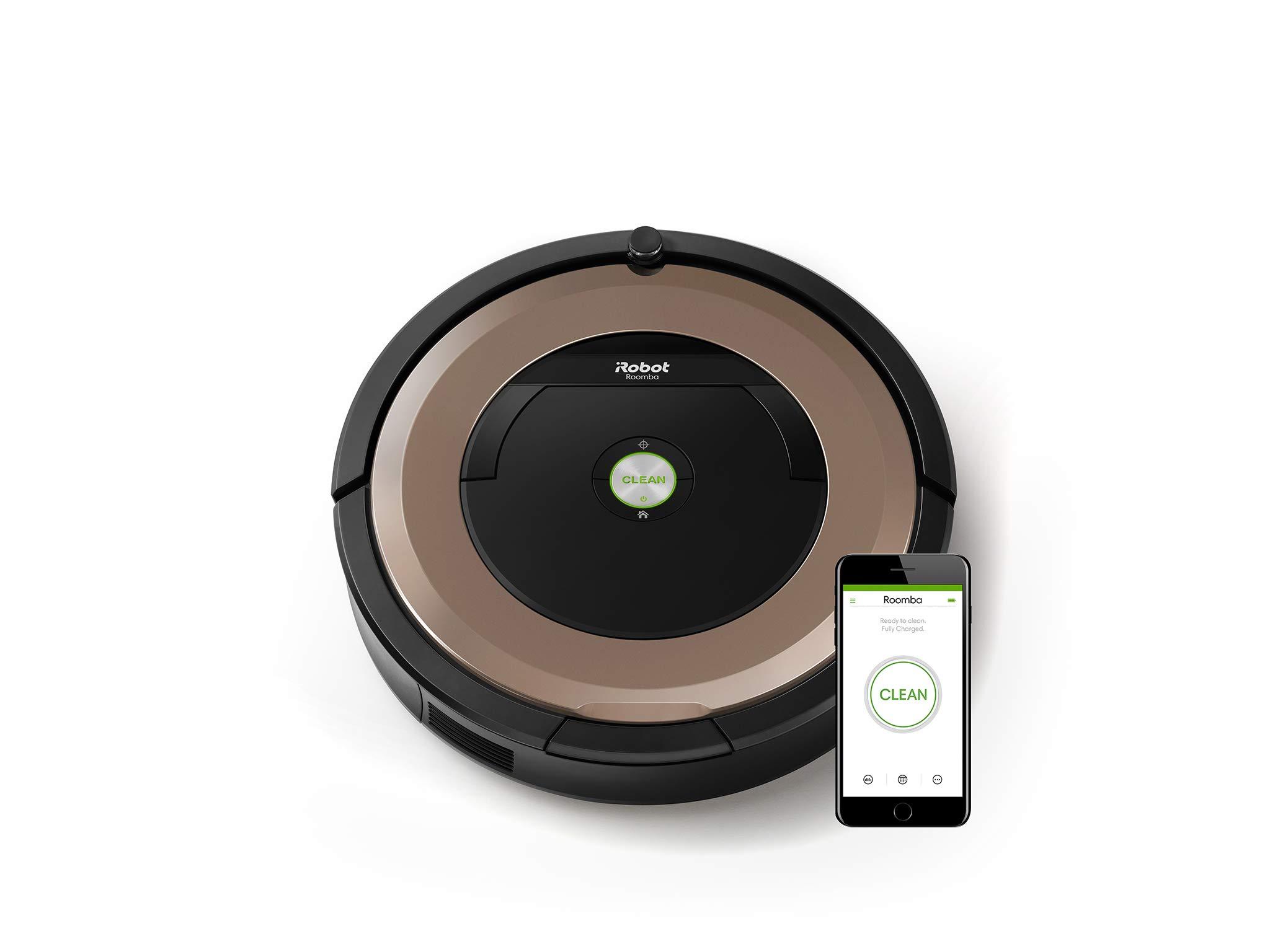 iRobot Roomba 895 Saugroboter für Teppiche, Hartböden, Tierhaare (App)
