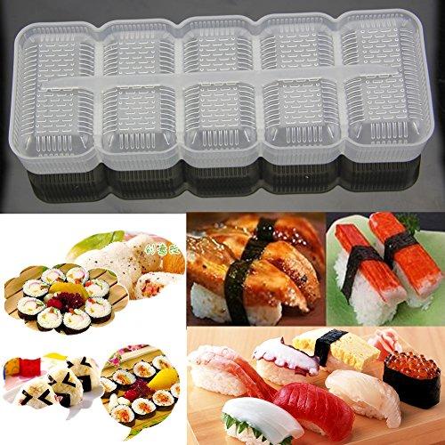 dairyshop Japan Reis Ball Nigiri Sushi Form, 5Rollen Maker antihaftbeschichtet Presse Bento Werkzeug (Leicht Zu Machen Halloween Cupcakes)